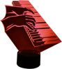 3D Piano Lamp Sculpture