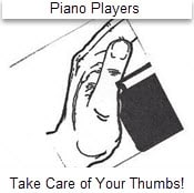 Piano Players thumb Technique