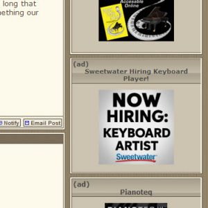 Forums Button Banner Ad Samples