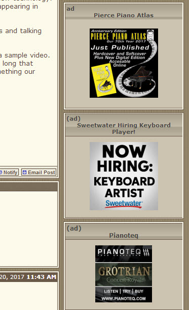 Forums Button Banner Ad Examples